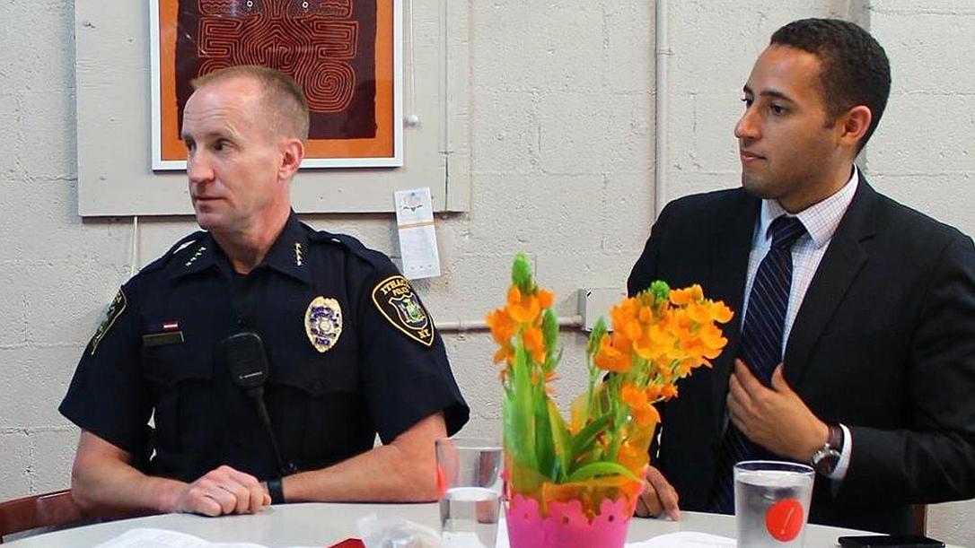 Ithaca Mayor Svante Myrick, ithaca police reform, defund the police
