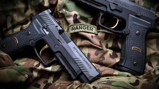 The SIG Best Ranger Competition M17 Trophy pistol will go to the two-man winning team.
