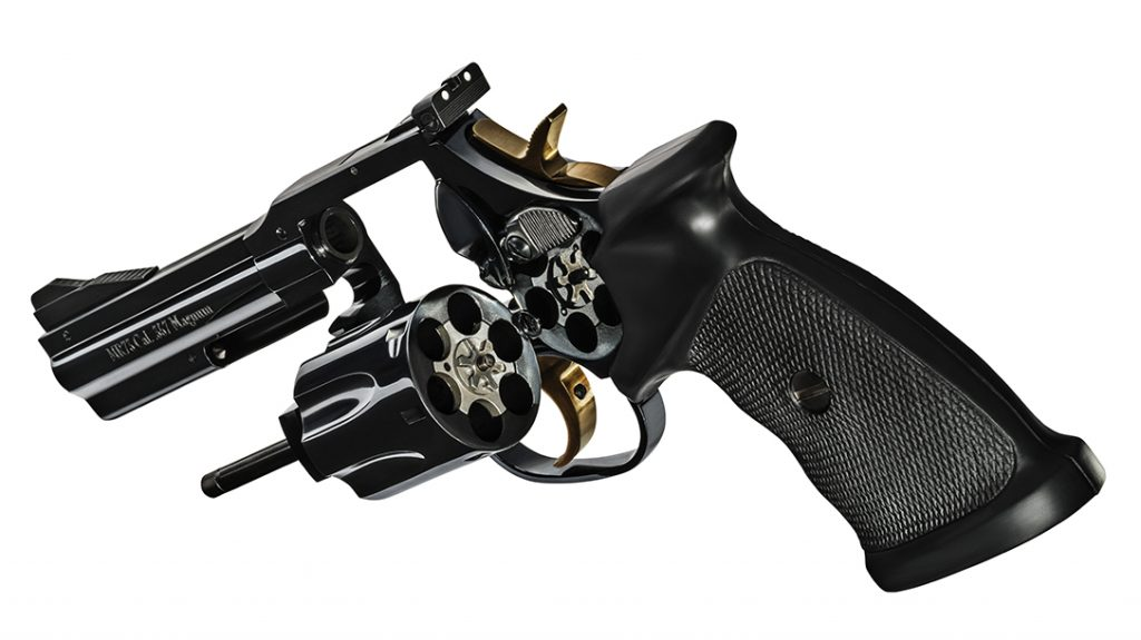 Priced at $3,300, the MR73 Gendarmerie is a high-end revolver.