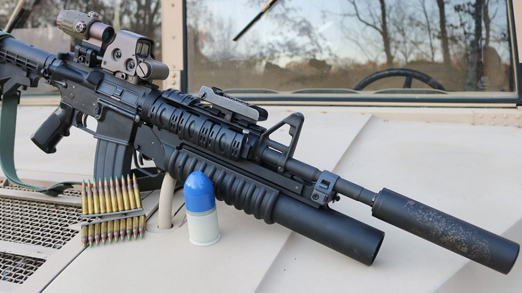 Fitted with an M203, the M4A1 is formidable.