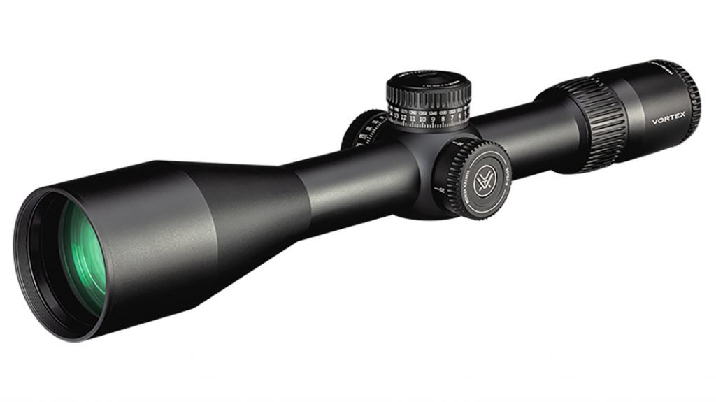 The Vortex Venom features a 34mm tube and first focal plane reticle.