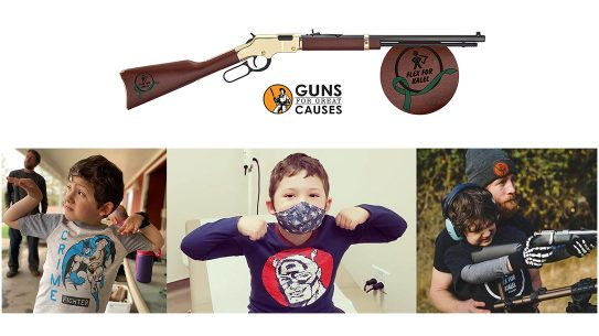Henry donated 50 Golden Boy rifles to raise money for Kalel Hamilton