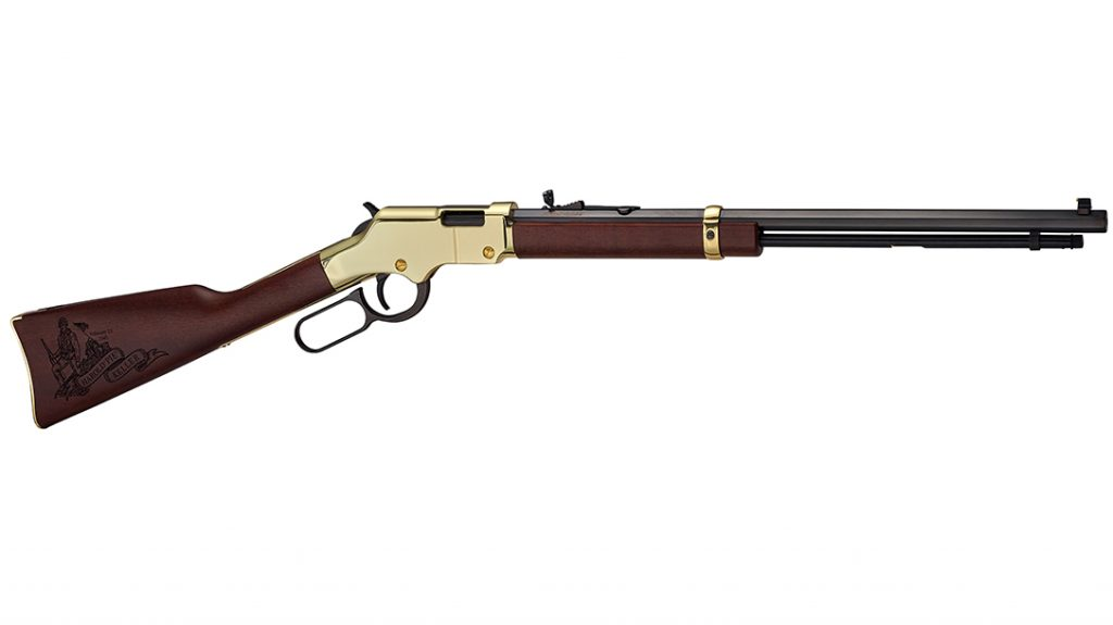 A special-edition Henry Golden Boy rifle honors Pie Keller and the Iwo Jima flag-raising.