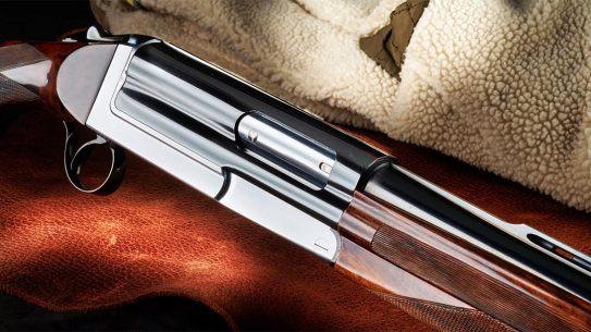 The elegant Cosmi shotgun is both break-action and a semi-auto.