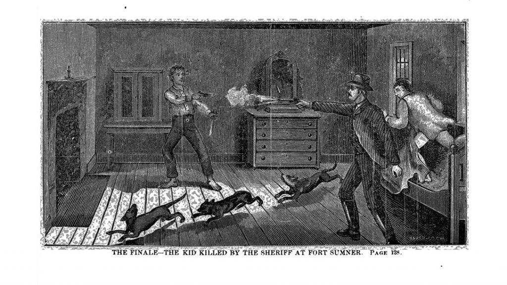 Pat Garrett kills Billy the Kid