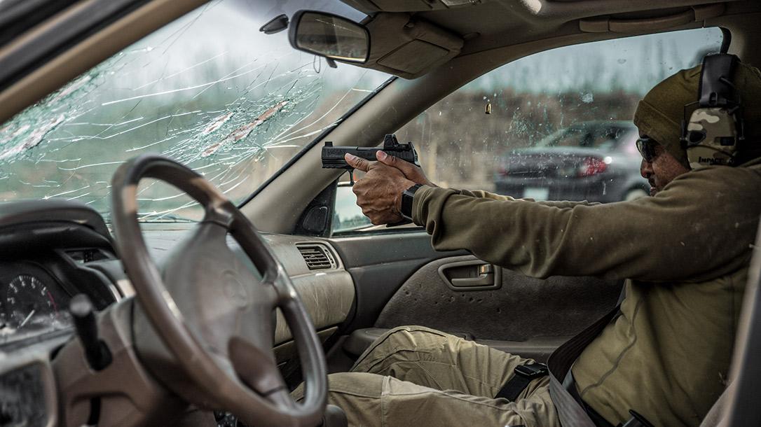 Centrifuge Training addresses vehicle cqb topics like shooting from inside a car.