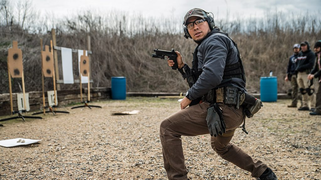The vehicle cqb course also goes through dynamic positions.