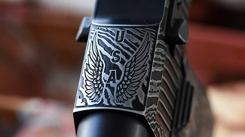 Nothing on the custom Desert Eagle was untouched or overlooked.