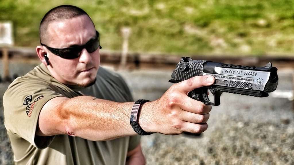 There's just nothing like shooting a Deagle one-handed! The author uses it as a rite of passage for those who have not shot the giant handgun before.