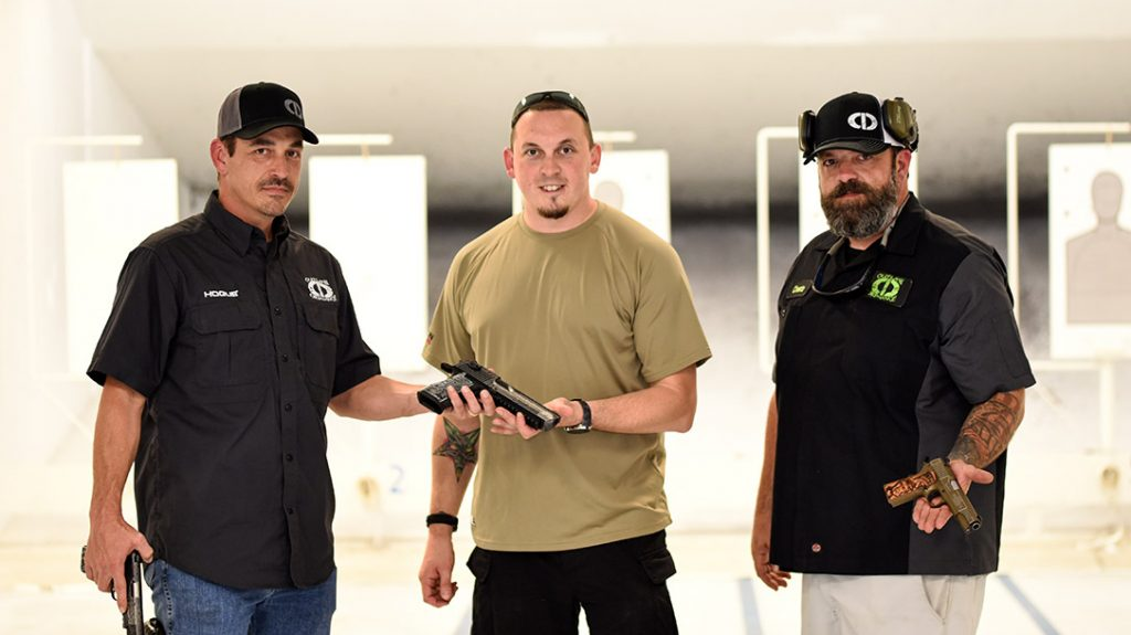 It was the author's honor to be able to have his gun personally presented to him by Outlaw Ordnance's Cheeto.