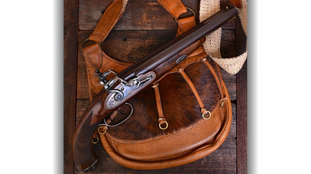 Pedersoli's new double-barrel Flintlock pistol is based on original designs from the late 18th and very early 19th centuries. It is chambered in 20 gauge. That's the same as the earlier Pedersoli double hammer percussion model Howdah Hunter, introduced 14 years ago. The Howdah Hunter is based on later 19th century designs.