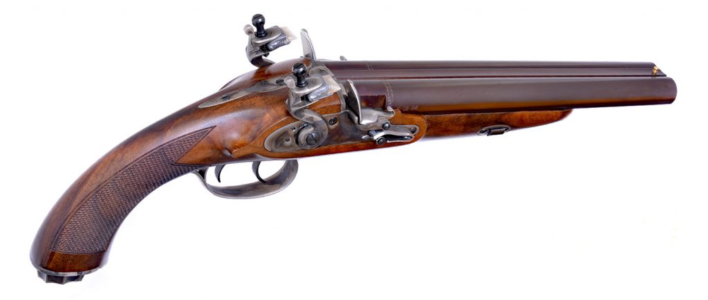 Pedersoli Howdah Double-Barrel Flintlock Pistol