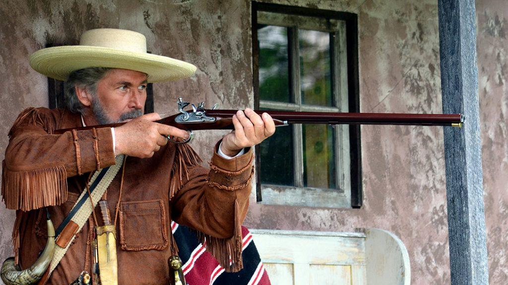 The Flintlock Howdah pistol is based on Pedersoli's Flintlock double-barrel shotgun, which uses a similar lock and trigger design.