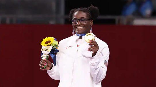 Tamyra Mensah Stock Wins Olympic Gold in Women's Wrestling