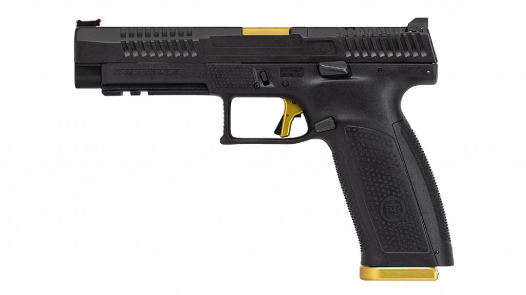 With a 19-round magazine and chambered in 9mm, the P-10 F comes match-ready.