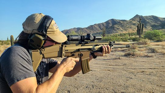 We tested the updated FN SCAR with non-reciprocating charging handle.