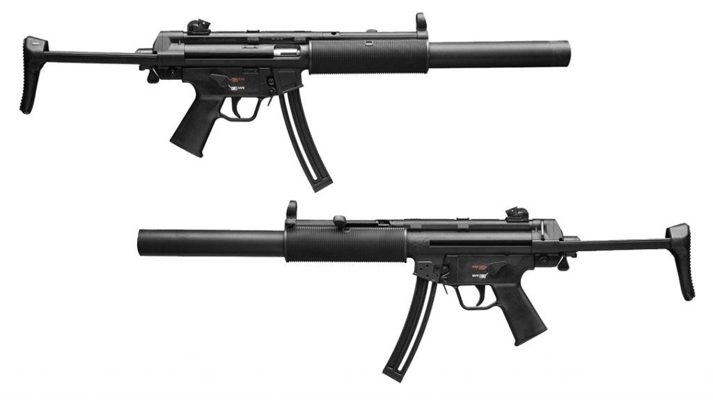 The HK MP5 Rimfire 22 rifle.