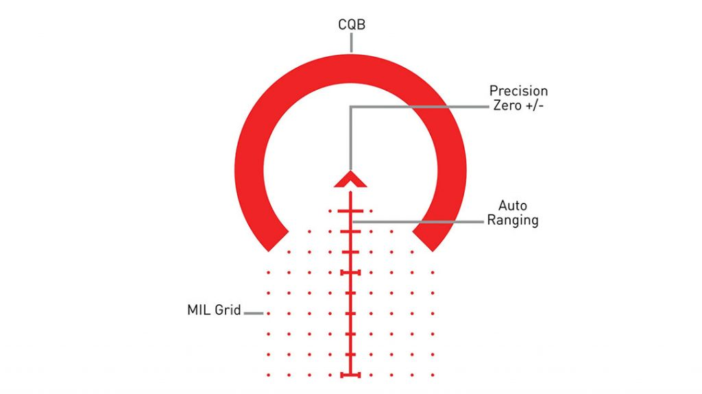 The ACSS (Advanced Combined Sighting System) Griffin X Mil reticle.