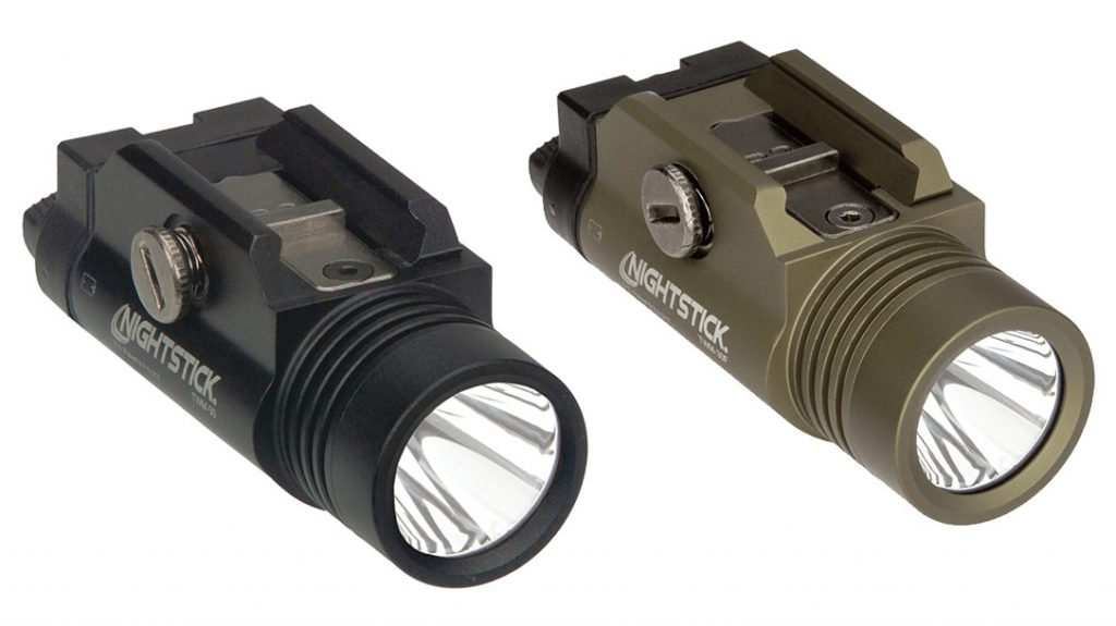 The Nightstick TWM-30 Weapon Light also comes in olive drab, in the TWM-30F model. TWM-30 on left, TWM-30F on right.