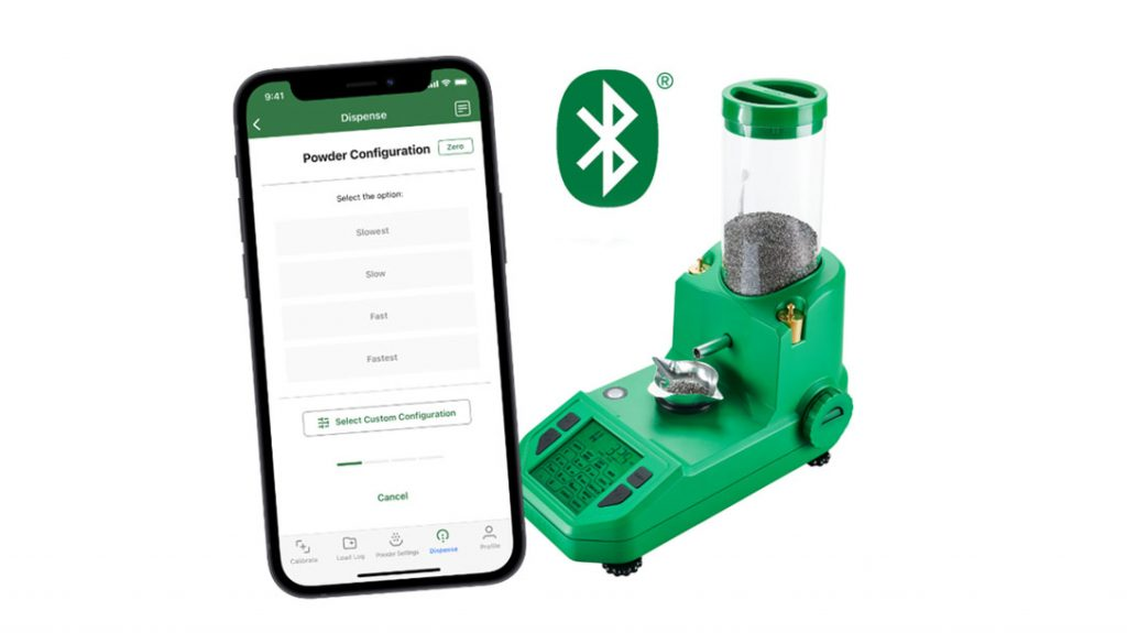 The RCBS ChargeMaster Supreme Powder Dispenser has Bluetooth connectivity.