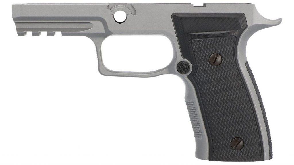 The SIG Sauer AXG Titanium Cerakote grip module.